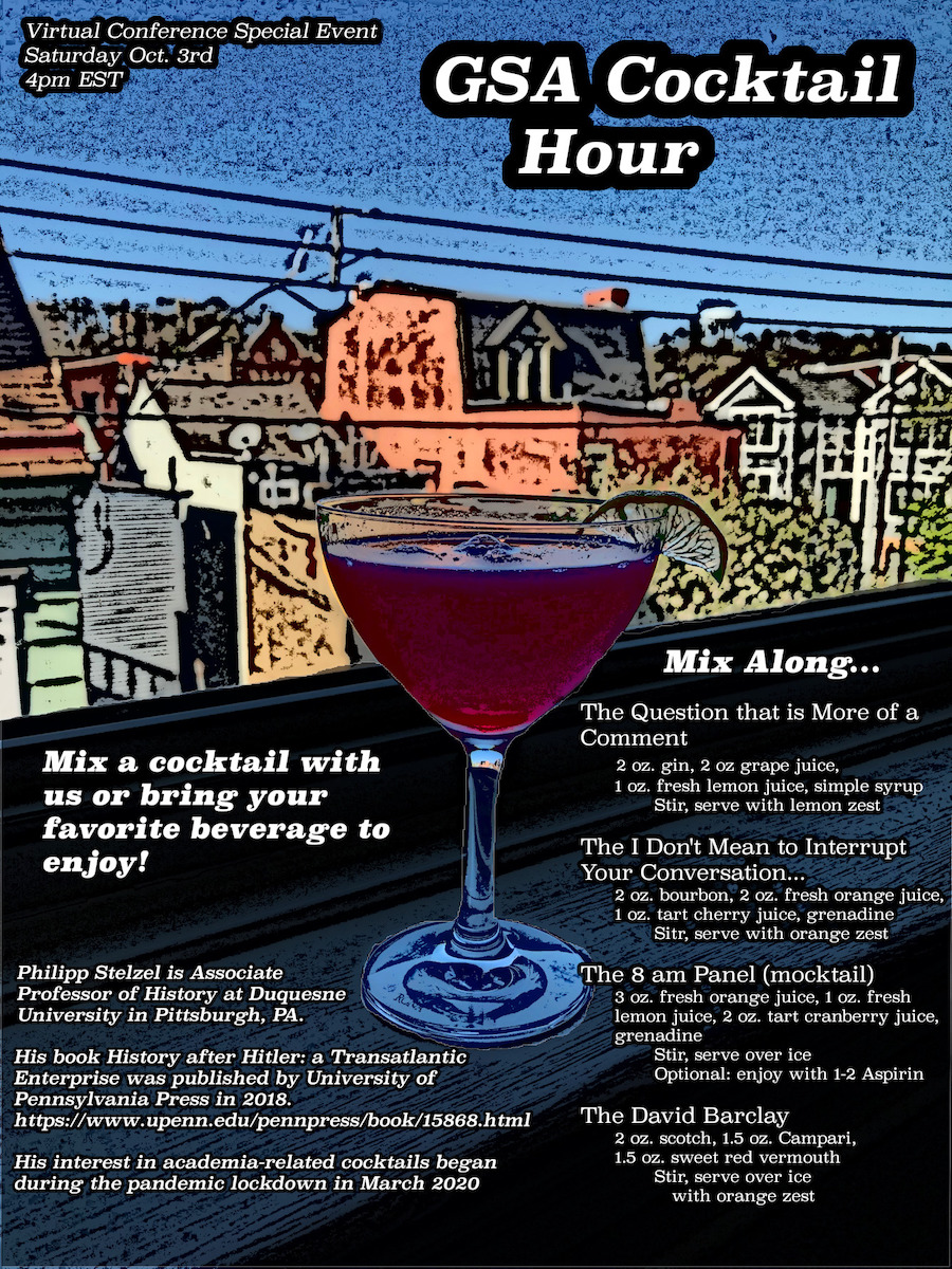 GSA Cocktail Hour Flyer